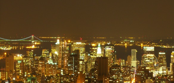 new york notte da empire state building